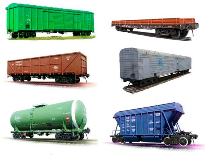видове товарни вагони