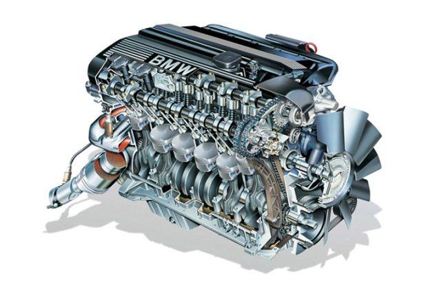 двигател на автомобила